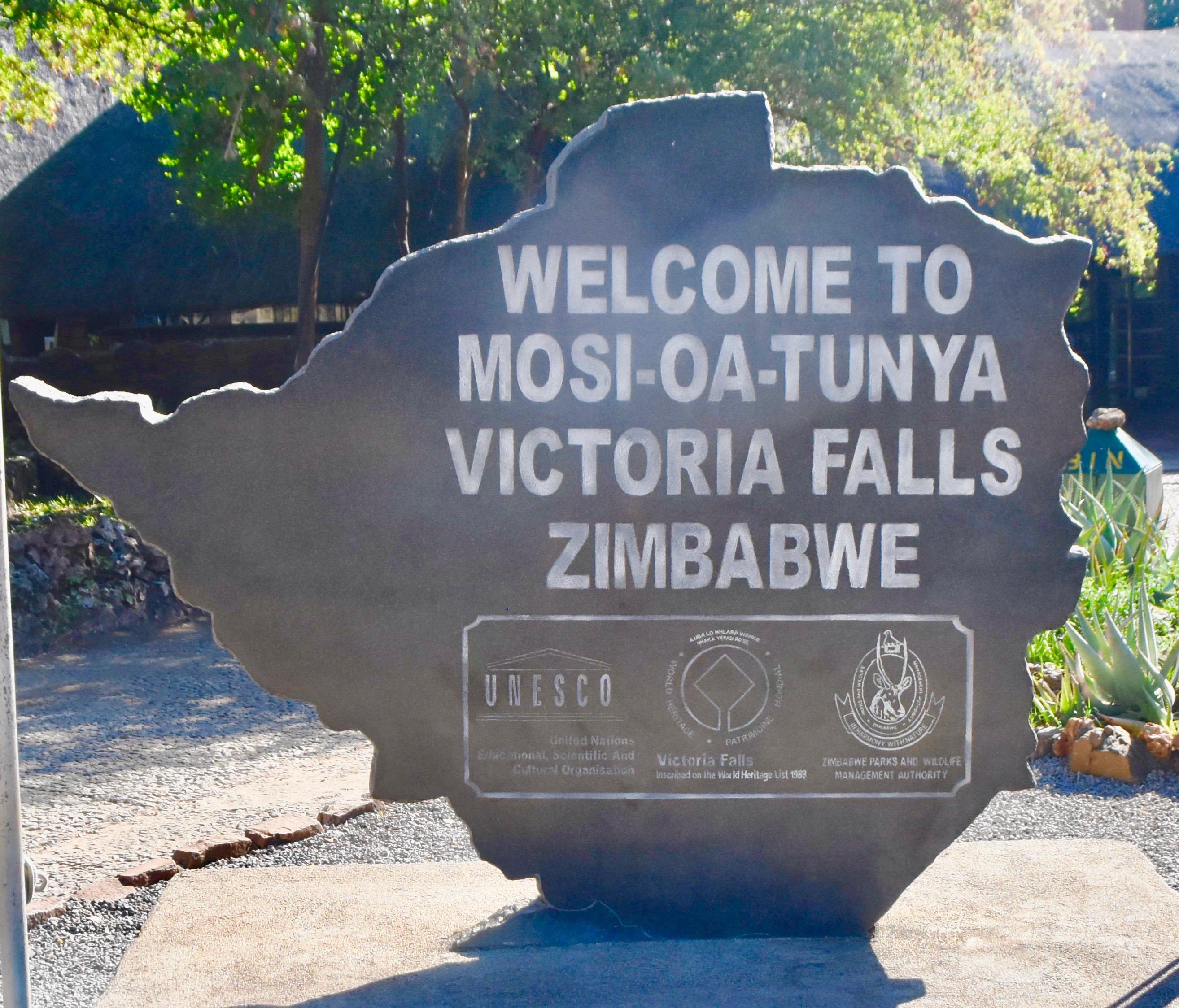 Victoria Falls Sign