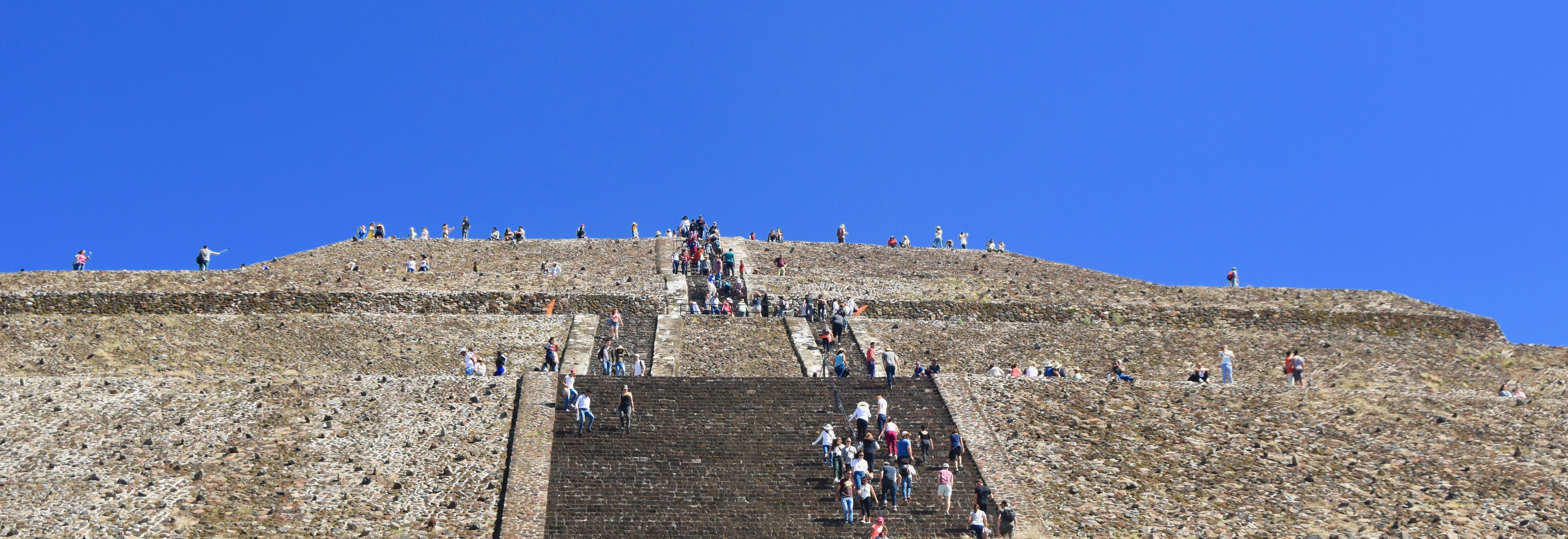 Looking Up at the Steps at Teotihuacan