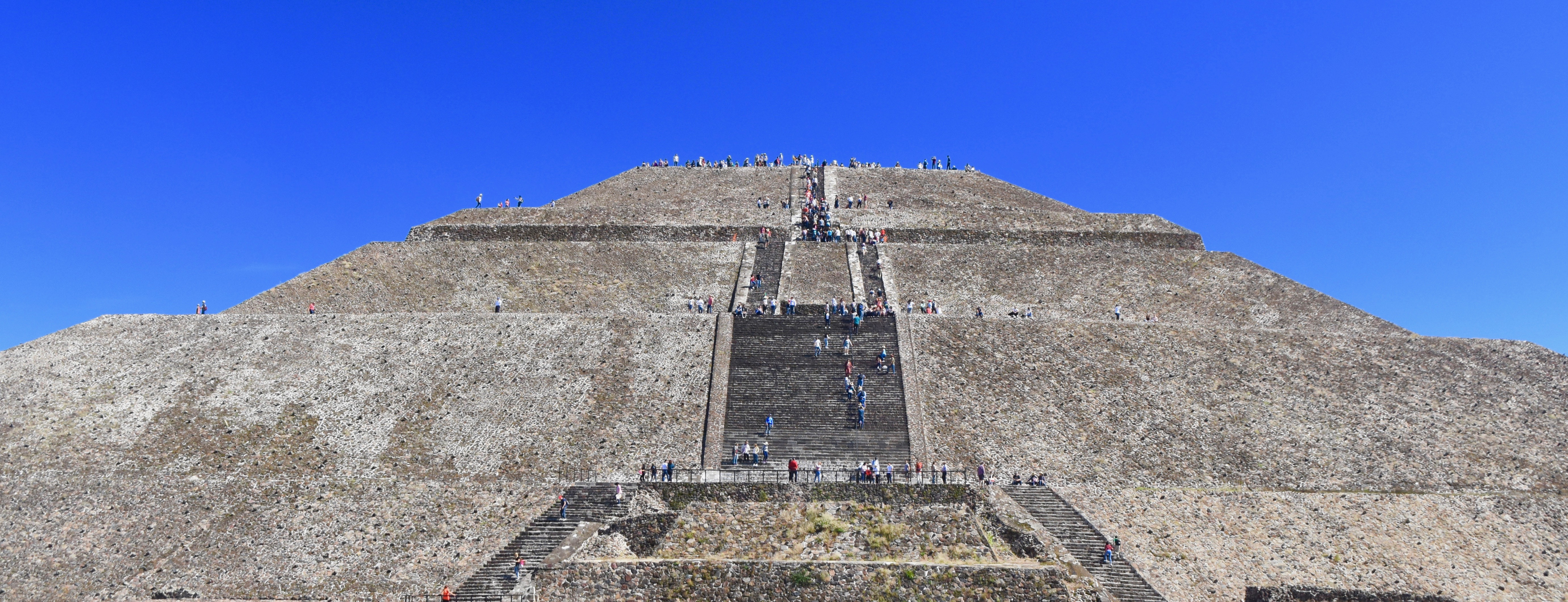 Stairs up the Pyramid of the Sun
