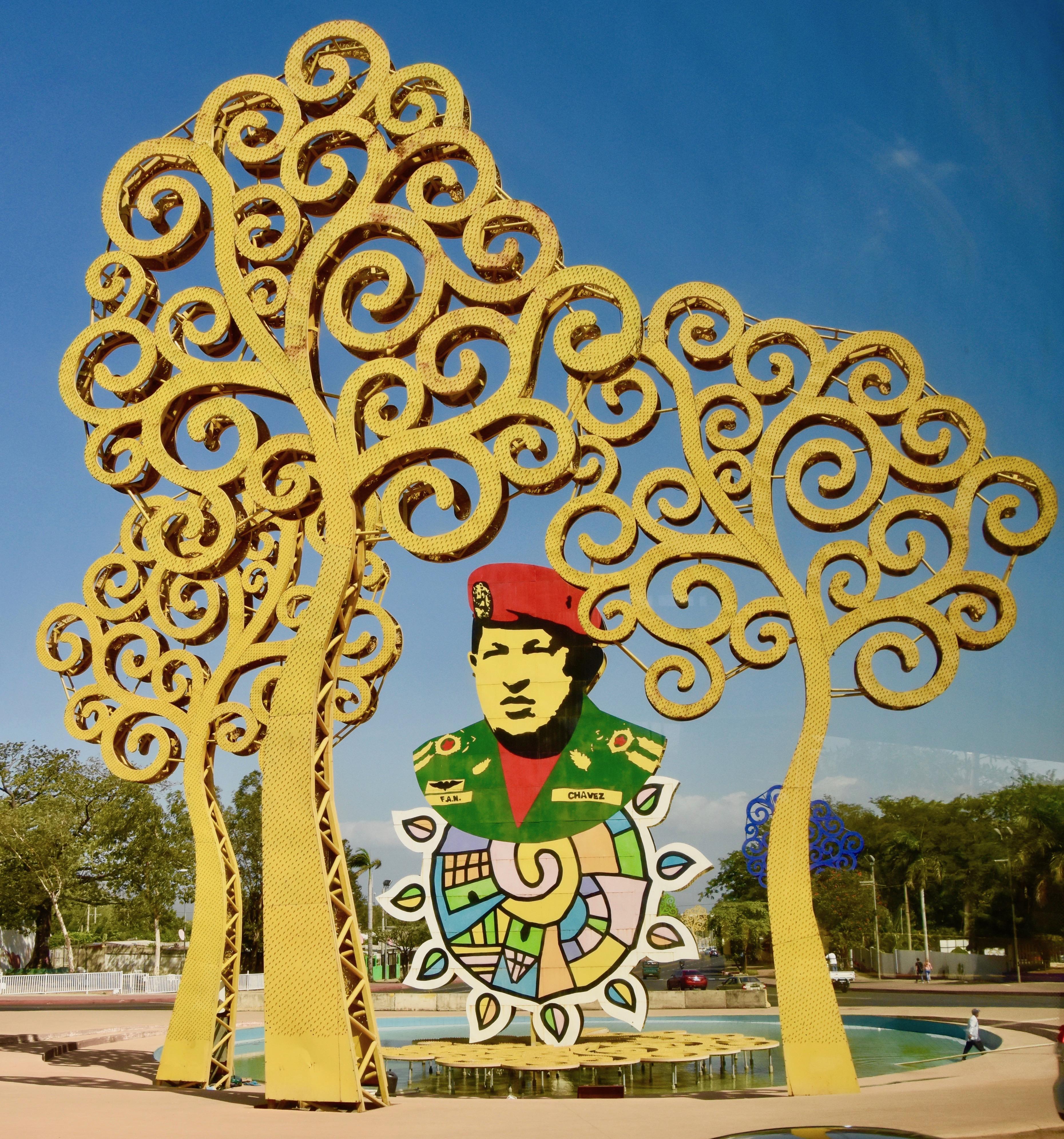 Hugo Chavez Monument, Managua