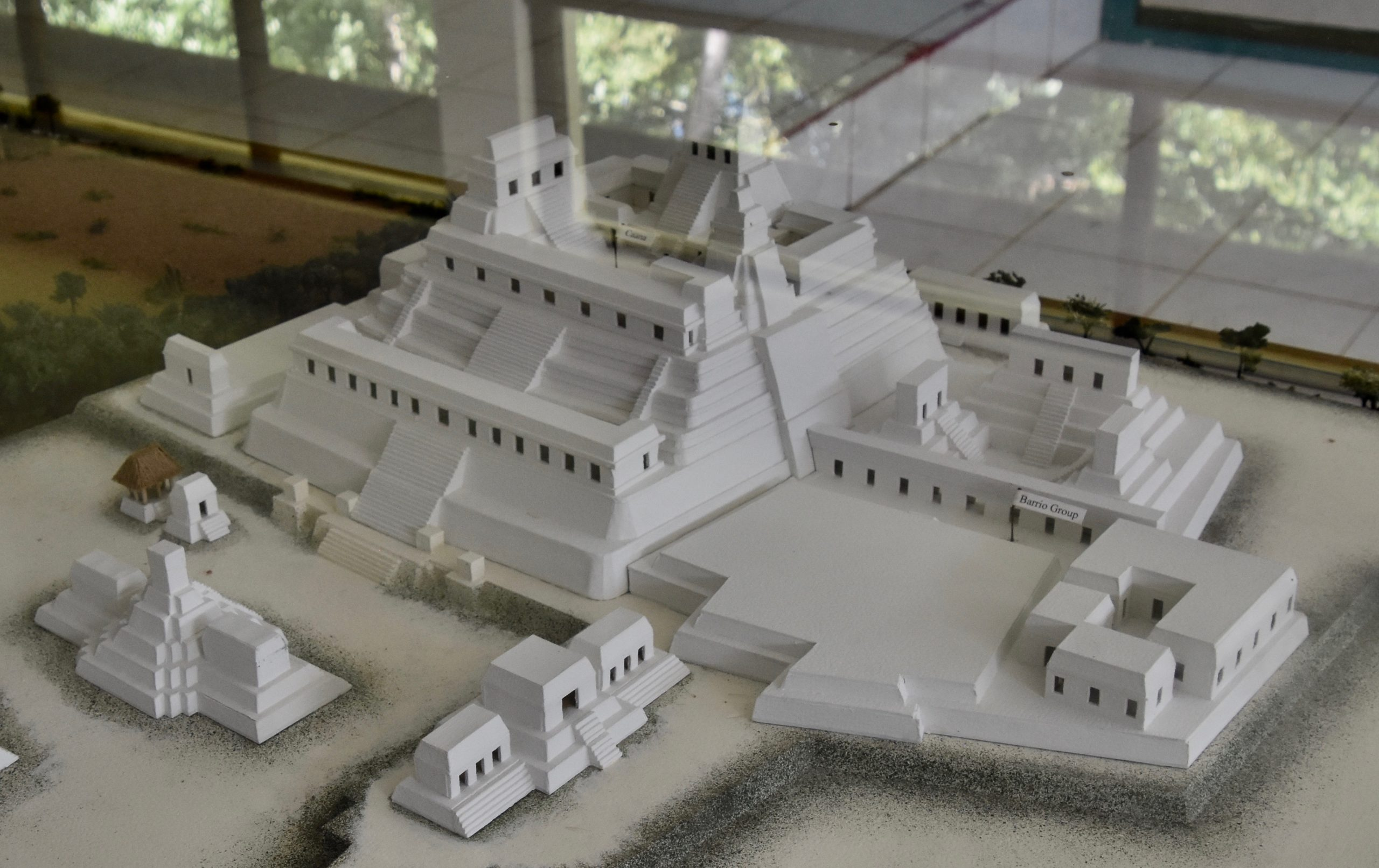 Model of Sky Palace, Caracol