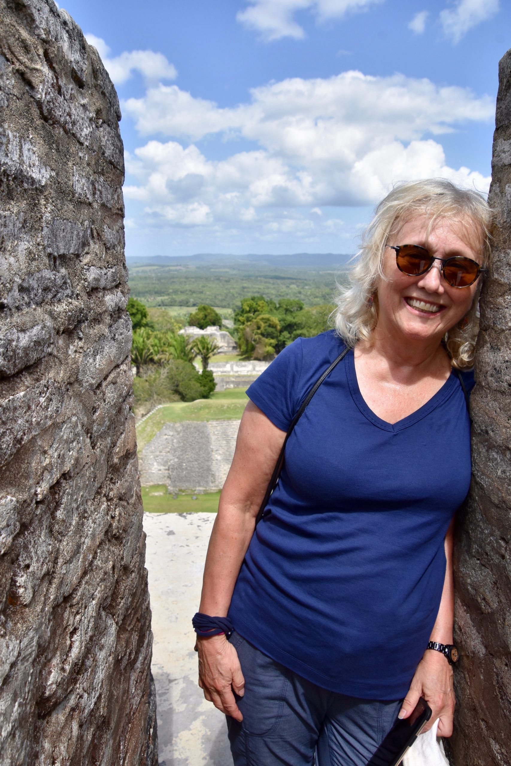 Alison on El Castillo, Belize