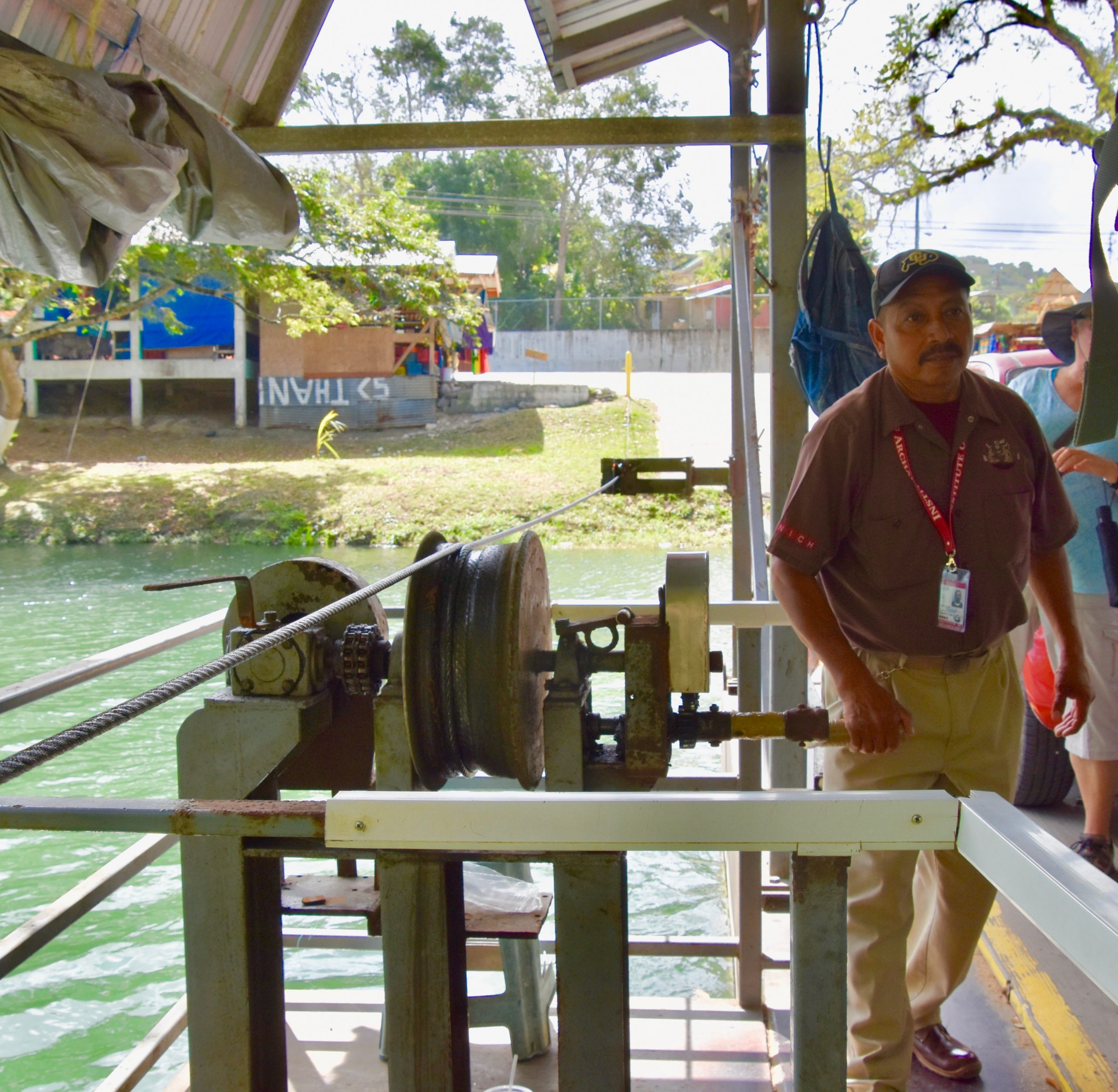 Hand Crank Ferry, Mopan River, Belize