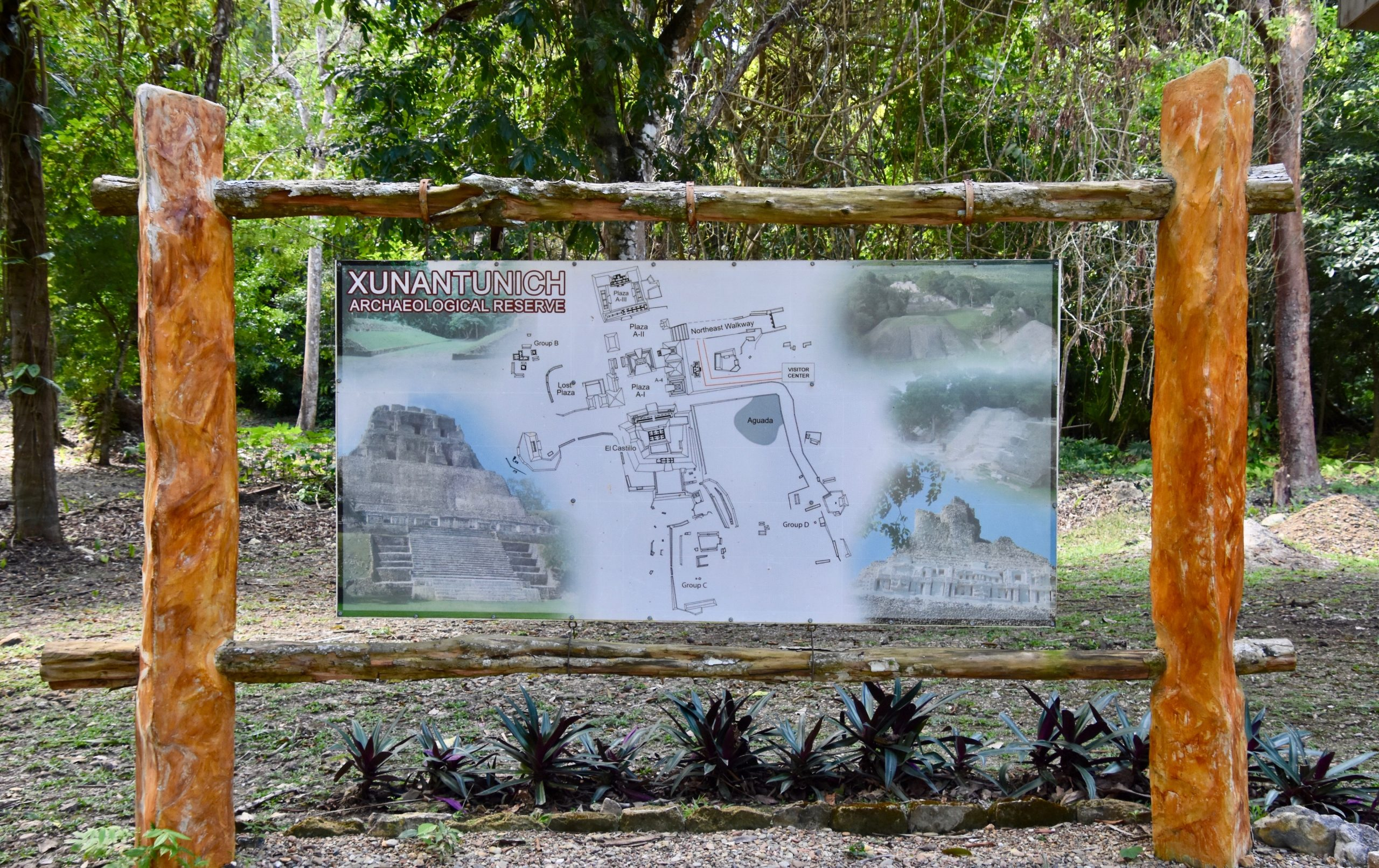 Xunantunich Site Map, Belize