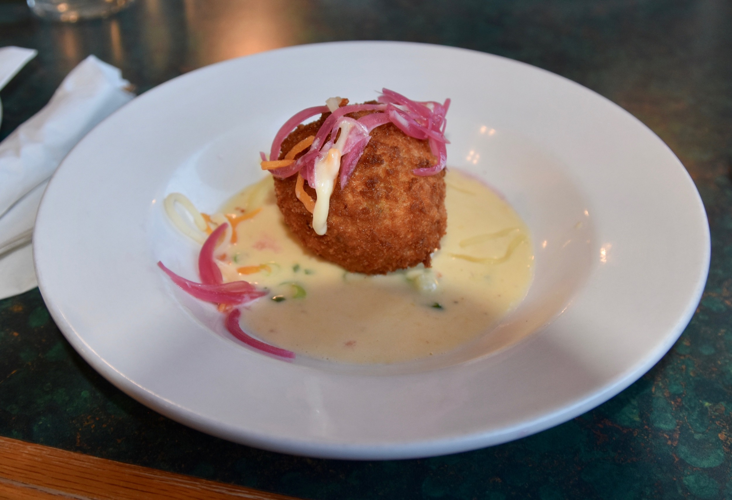 Lobster Mac and Cheese Arancini, The Tides restaurant